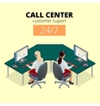 concept of call center Technical support vector image