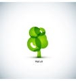 Eco green tree concept vector image