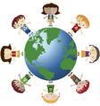 globe and children vector image