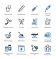Health Care Icons Set 1 - Equipment and Supplies vector image