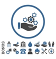 Mechanics Service Flat Rounded Icon With vector image