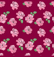 seamless pink rose pattern flower background vector image