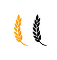 set of icons ears of wheat icon of premium vector image
