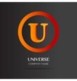 U Letter logo abstract design vector image