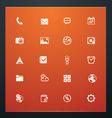 Universal glyphs 16 phone symbols 5 vector image