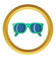 Retro hipster sunglasses icon vector image