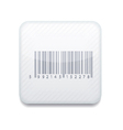 white bar code icon Eps10 Easy to edit vector image vector image