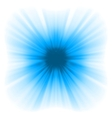 Abstract blue starburst vector image vector image