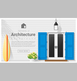 Elements of architecture front door background 13 vector image