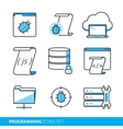 Programming icons set vector image vector image