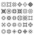 set of geometric simple forms suits for swatches vector image
