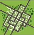Plan city vector image