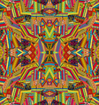 Seamless pattern with colored ethnic motifs vector image vector image