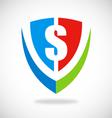 Dollar shield logo vector image