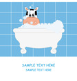 cow bathing vector image vector image