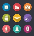 Party Flat Icons with Halloween vector image vector image