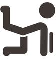 aerobics icon vector image