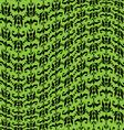 green black warped damask pattern vector image