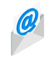 Email icon isometric 3d style vector image