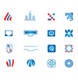 abstract technology icons set vector image