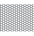 black hexagon mesh on white background design vector image