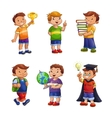 Cartoon happy children set vector image