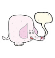 cartoon pink elephant with speech bubble vector image