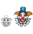 Cartoon smiling circus clown vector image