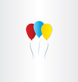 color balloons celebration symbol vector image