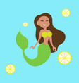 mermaid girl vector image