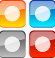 REC buttons vector image