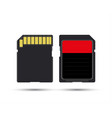 sd card realistic image of memory card vector image