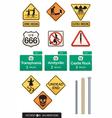 set of 12 halloween sign s vector image