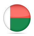 flag of madagascar shiny round button vector image