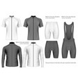 collection of cycling clothes vector image