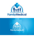 family medical vector image