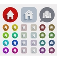 flat real estate icons set vector image