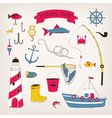 Fishing time vector image
