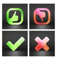 Approved and rejected icons set vector image