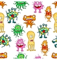 Cartoon colorful monsters and aliens vector image