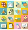 Seo web flat icon vector image