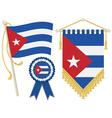 cuba flags vector image