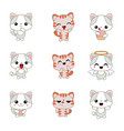 different cartoon cats set different cartoon cats vector image