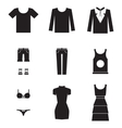 dress icons vector image
