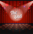 end show concept vector image