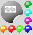Equalizer icon sign Set of eight multi colored vector image