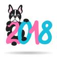 french bulldog and 2018 vector image