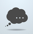 Icon of speech bubble vector image