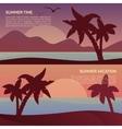 landscape in tropics vector image
