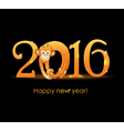 New Year card with monkey3 vector image